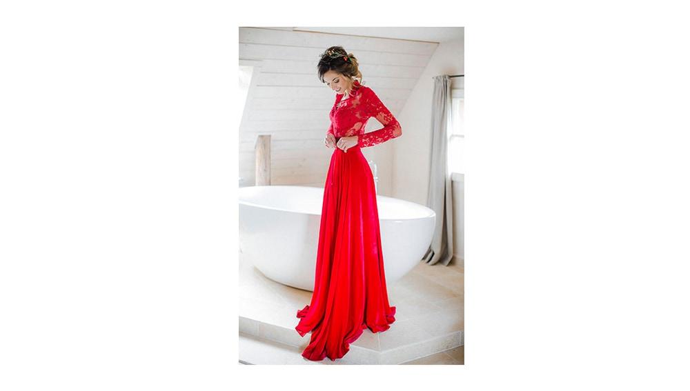En el vestido de la novia, si eres atrevida 100% rojo
