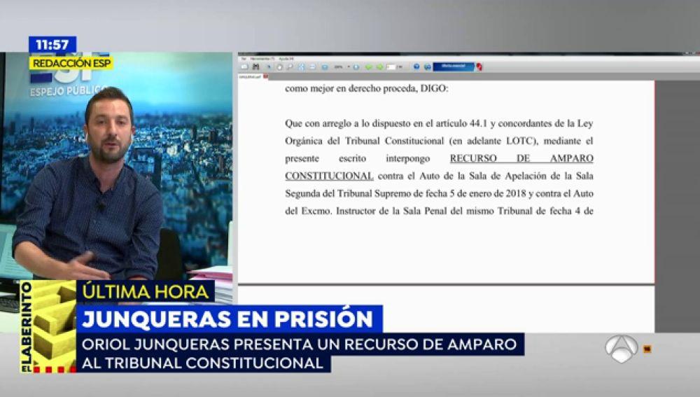 Junqueras presenta un recurso de amparo al Constitucional para evitar la prisión preventiva
