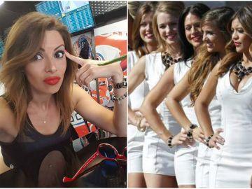 Una azafata de MotoGP protesta contra la decisión de la F1