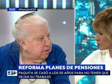 """Paquita, pensionista, sobre el empleo: """"Con lo que ganan los jóvenes siguen siendo tan pobres que antes de trabajar"""""""