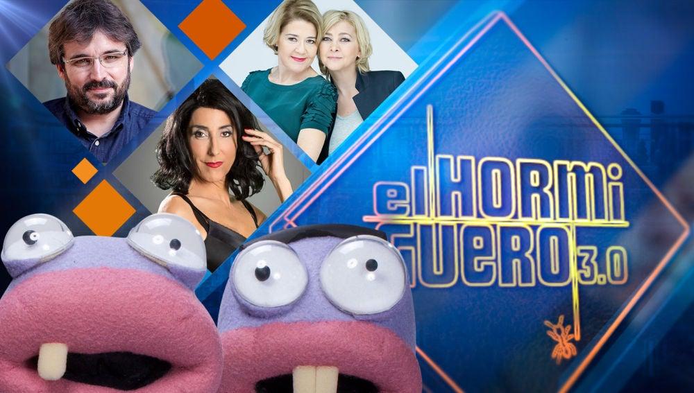 Paz Padilla, Amparo Larrañaga y María Pujalte, y Jordi Évole visitarán 'El Hormiguero 3.0' la próxima semana