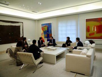 Rajoy en su reunión con Sociedad Civil Catalana