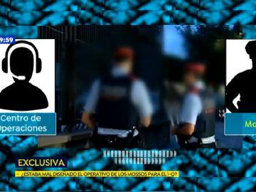 Los audios de las comunicaciones internas de los Mossos durante el 1-O revelan que no intentaron retirar las urnas