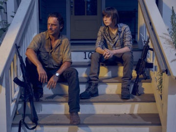 Rick y Carl en 'The Walking Dead'