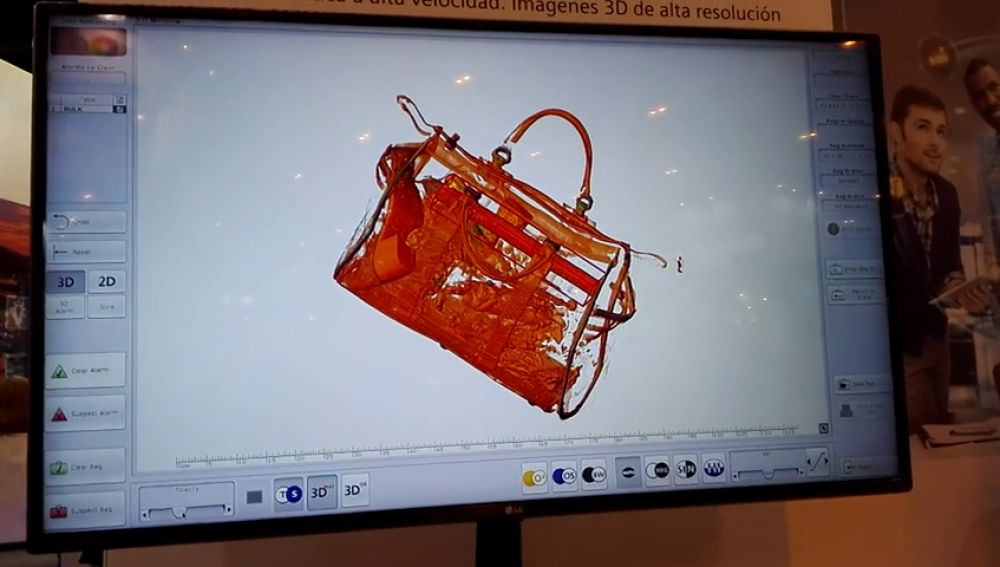Escáneres con la posibilidad de ver nuestro equipaje por capas y en 360º