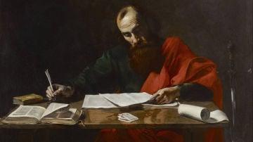 San Pablo escribiendo su Epístolas, siglo XVI (Blaffer Fundación Colección, Houston, Texas)