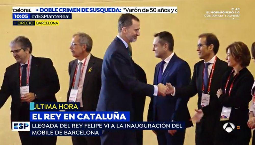 El Rey Felipe comienza la visita inaugural del Mobile World Congress