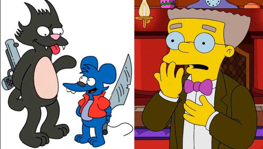 Smithers y Rasca y Pica en 'Los Simpson'