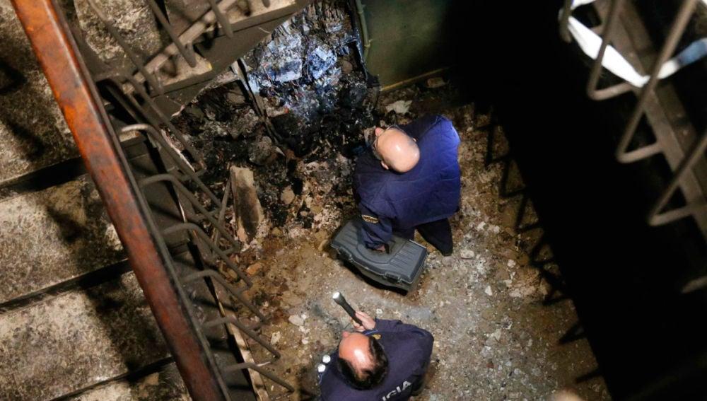 Incendio en un edificio de Siero, Asturias