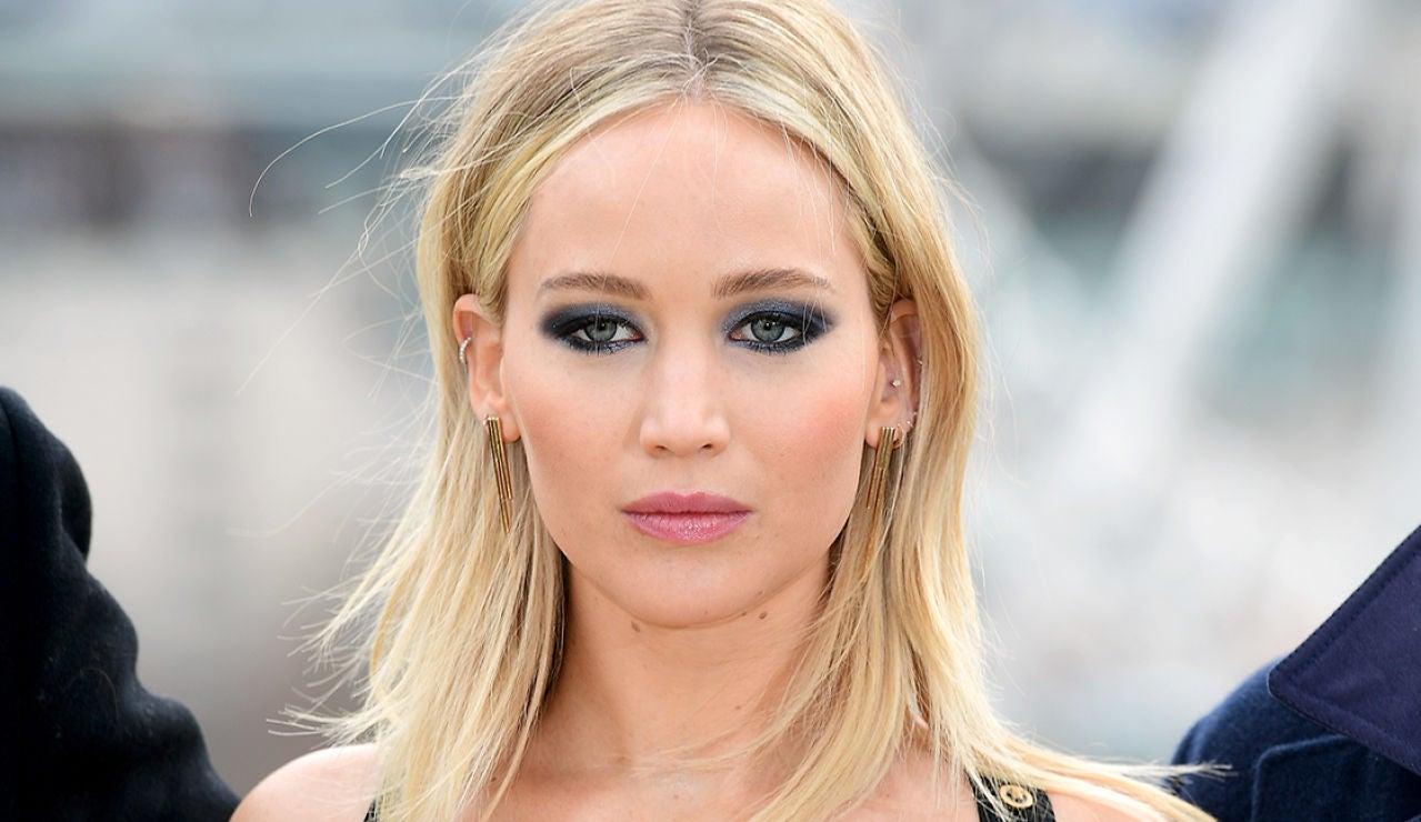 La actriz Jennifer Lawrence en Londres