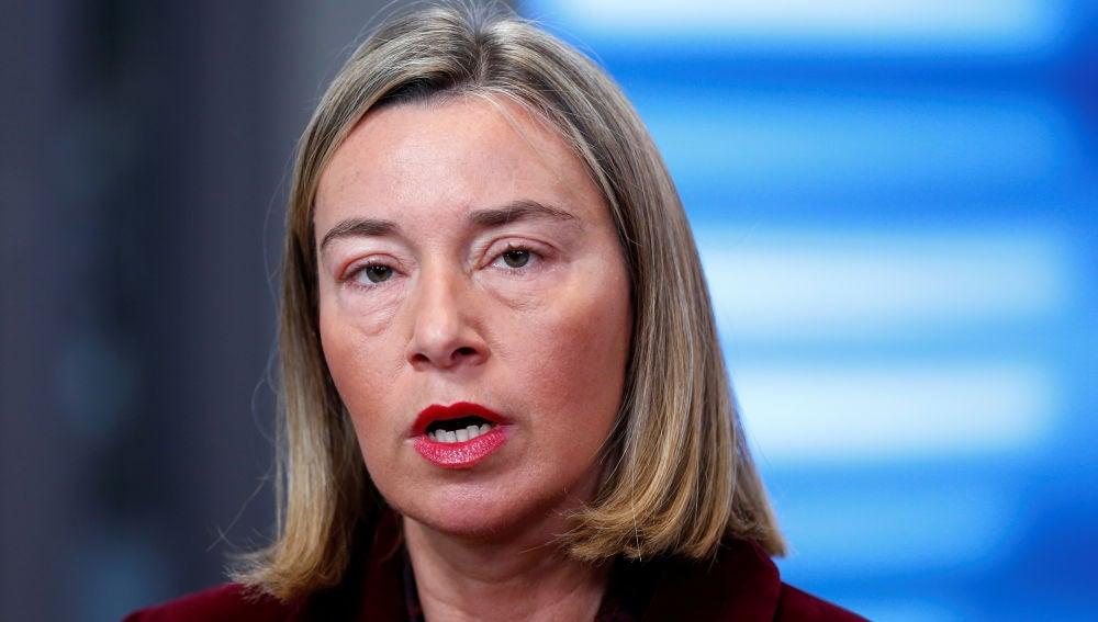 La jefa de la diplomacia europea, Federica Mogherini