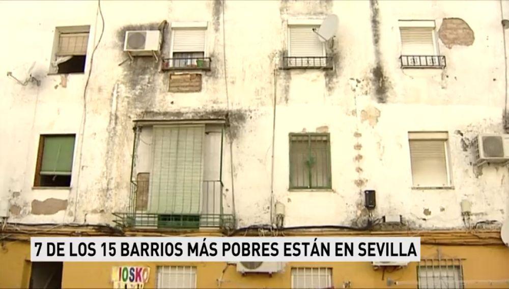 Siete de los 15 barrios más pobres de España están en Sevilla