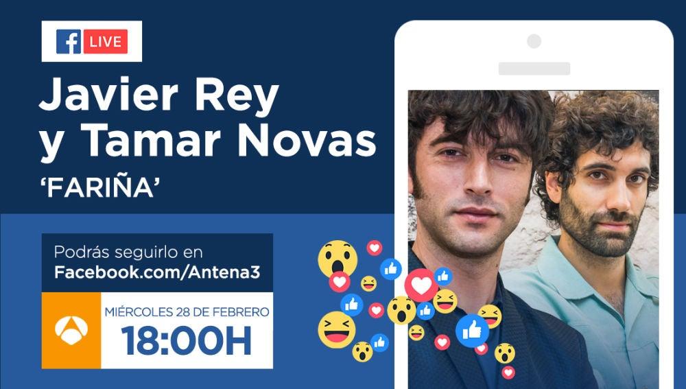El miércoles, Javier Rey y Tamar Novas responderán a las preguntas de los fans de 'Fariña' a través de Facebook Live