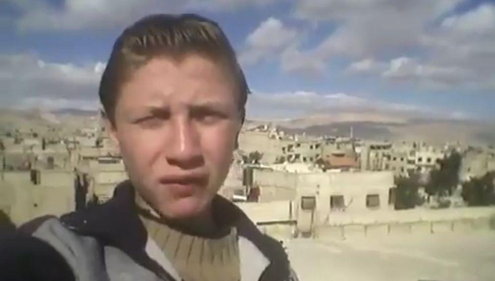 Muhammad Najem en uno de sus vídeos