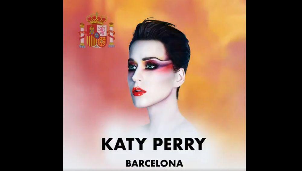 Anuncio del concierto de Katy Perry en Barcelona