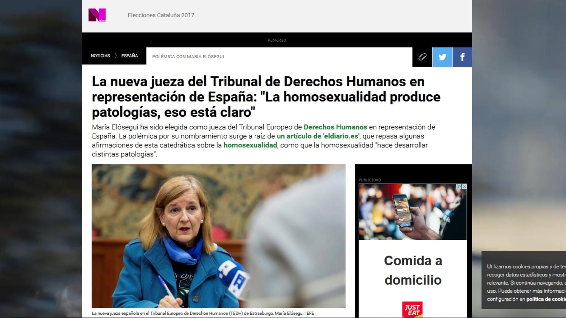 Pantallazo de la noticia de LaSexta