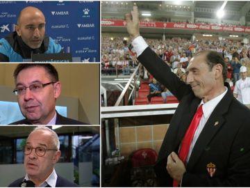 El mundo del fútbol despide a Quini