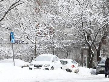 Nieve en Rusia