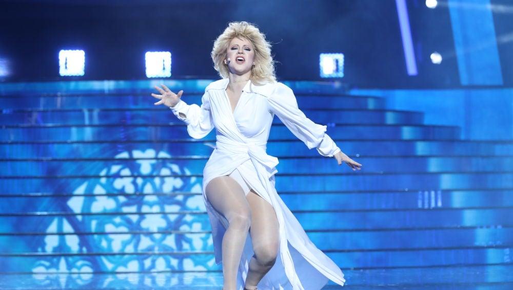 Lucía Gil eclipsa en la gran final de 'Tu cara me suena' como Bonnie Tyler en 'Total eclipse of the heart'
