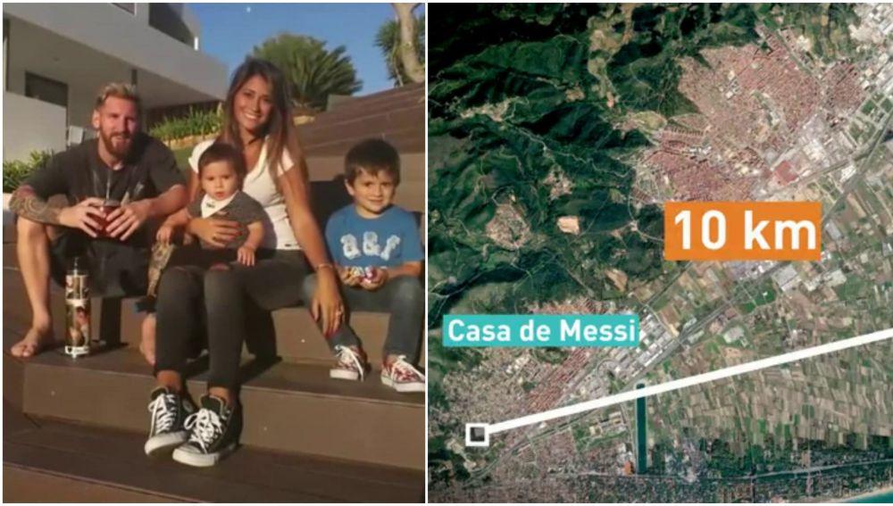 la casa de Messi cerca de El Prat