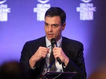 Pedro Sánchez, en una cumbre en Grecia