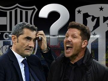 Valverde y Simeone, frente a frente en el Camp Nou