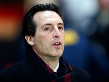Emery, durante un partido del PSG