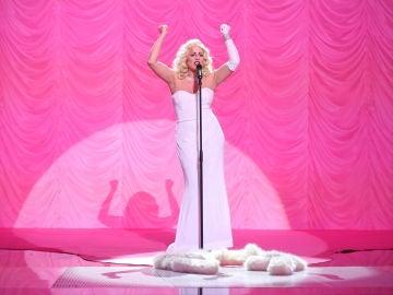 Lucía Jiménez nos sorprende como Madonna en la gran final de 'Tu cara me suena' interpretando el tema 'Sooner or later'