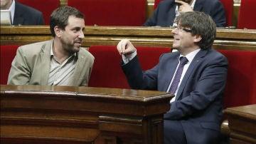 Toni Comín y Carles Puigdemont