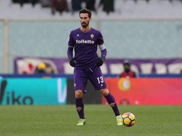 Davide Astori, durante un partido con la Fiorentina