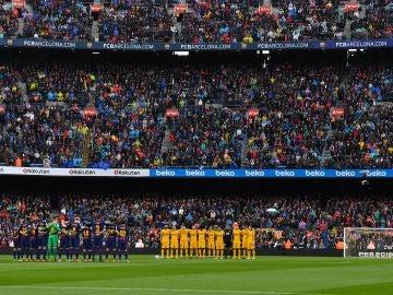 Homenaje del Camp Nou a 'Quini'