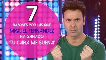 Las siete razones por las que Miquel Fernández ha ganador la sexta edición de 'Tu cara me suena'