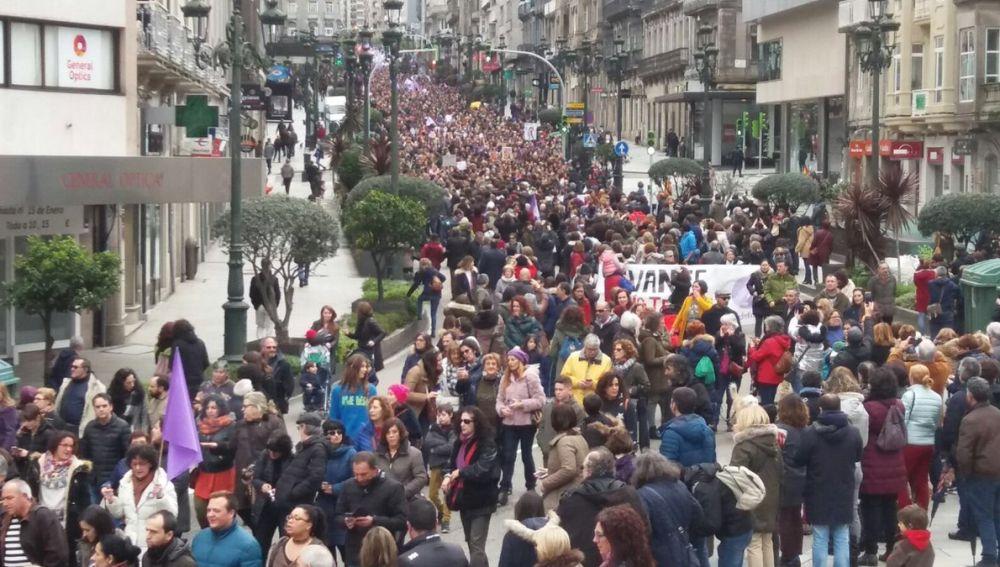 Huelga de mujeres en Vigo