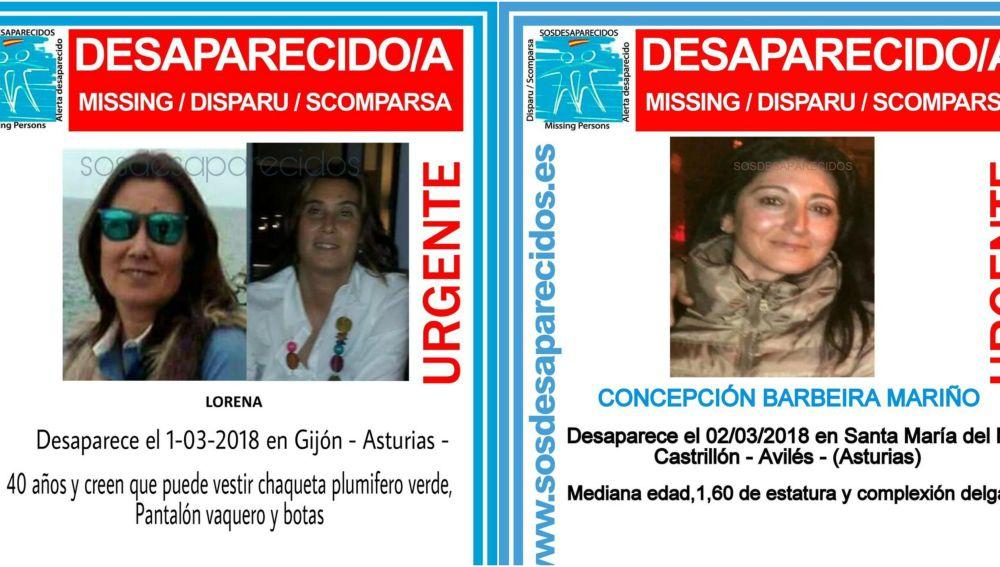 Las dos mujeres desaparecidas