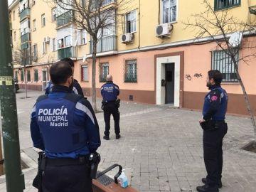 Varios agentes de la Policía Municipal de Madrid