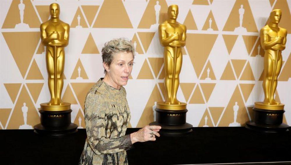Frances McDormand, ganadora del Oscar a la mejor actriz