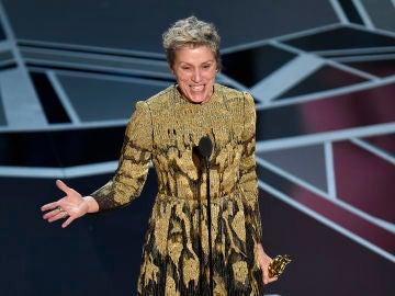 Frances McDormand durante su discurso de agradecimiento