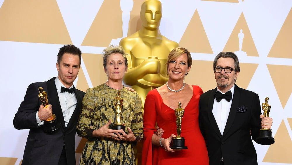 Sam Rockwell, Frances McDormand, Allison Janney y Gary Oldman