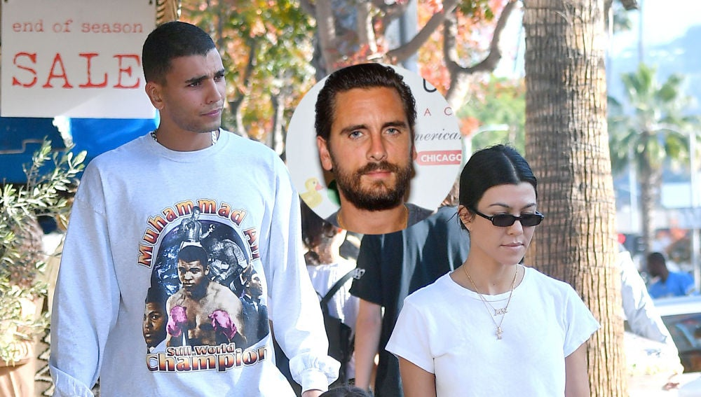 Kourtney Kardashian, Scott Disick y Younes Bendjima