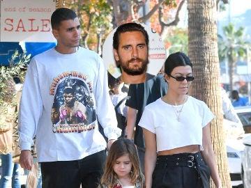 Kourtney Kardashian, Scott Disick y Younes Bendjima