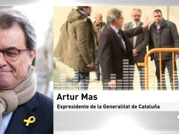 """Artur Mas, sobre la declaración de independencia ante el Supremo: """"Fue un acto parlamentario y que no iba más allá del puro simbolismo"""""""