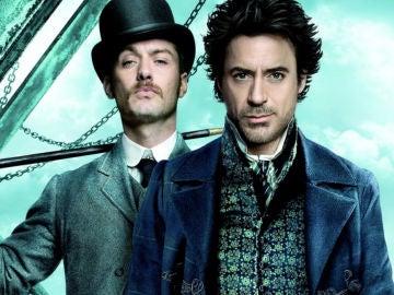 Jude Law y Robert Downey Jr. en 'Sherlock Holmes'