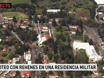 Tiroteo con al menos tres rehenes en una residencia militar de California