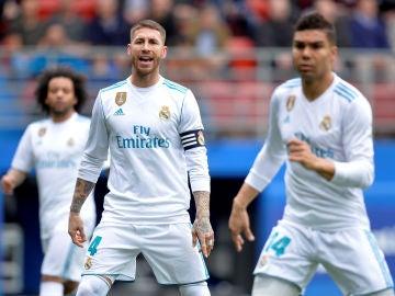 Sergio Ramos durante el encuentro ante el Eibar