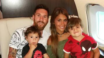 Leo Messi y Antonela Roccuzzo