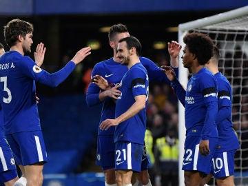 El Chelsea celebrando la victoria