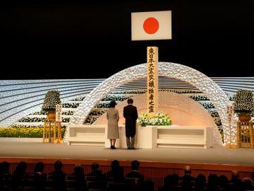 Minuto de silencio en Japón