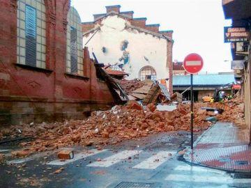 Derrumbe en Linares