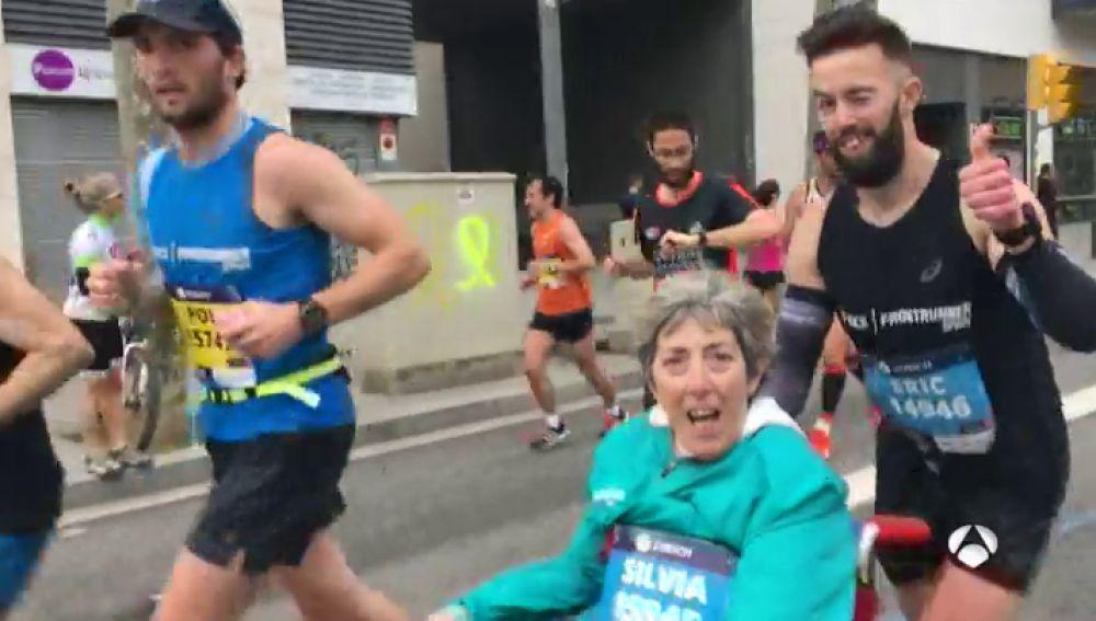 Silvia y Eric en el Maratón de Barcelona