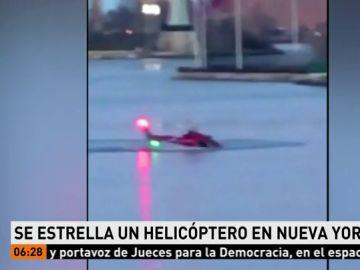 Se estrella un helicóptero en Nueva York